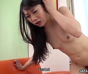 Japanese Brunette, Aiko Endou Sucks Dick, Uncensored