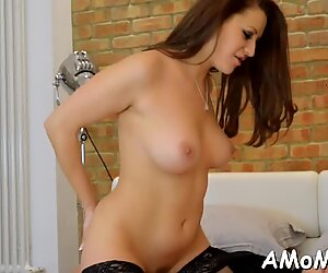 Mom begs for cock in her twat