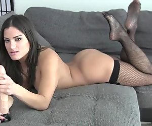 Let me put on my fishnets before I help you cum JOI