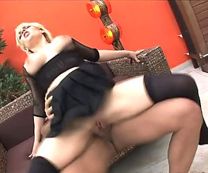 Milf Brithey teases rod with her melons