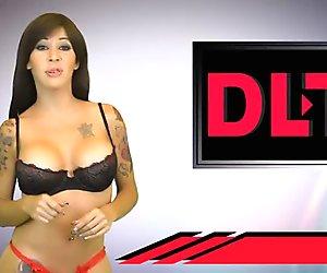 Naked presenters from Venezuelan DLN TV - stripping news online 4