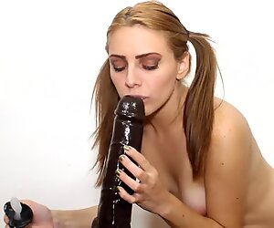 Innocent Teen in Pigtails Confuses Pacifier with Black Monster Cock Dildo