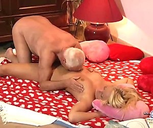 Grandpa Fucks Teen Beautiful Nympho She Swallows Cum Deepthroat Blowjob
