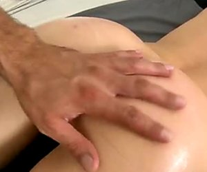 Two skinny bitches take a shower and later have a sensual massage in a parlour