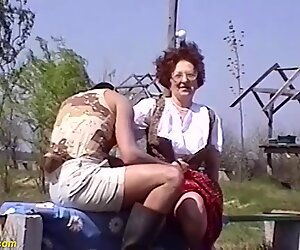 75 years old mom outdoor fucked