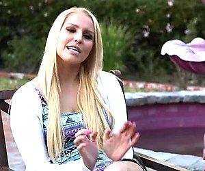 Blonde Hot Piece Vanessa Cage Banged