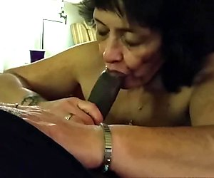 Cock - crazed grandma blowing a BBC