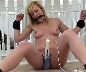 Blonde Given Orgasm By Wand