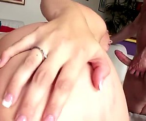 Double anal and facial for a cum drinking blonde bitch