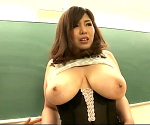 Huge boobed Japanese slut Yume Sazanami shows off her goodies