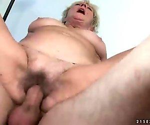 Granny fucks a handsome boy