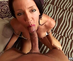 Anal Fucking a Busty Nympho Cougar POV