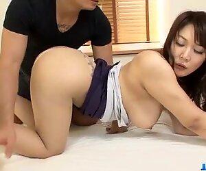 Busty milf Hinata Komine enjoys strong cock in her twat