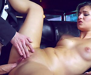 New girl Cindy Loarn fucks the bosses huge cock
