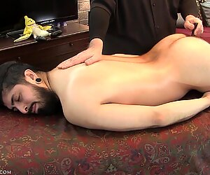 Adrian'_s fully engorged, thick, uncut cock was leaking like a sieve