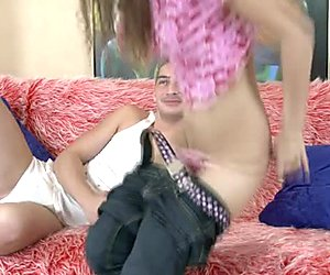 Pretty teen angel Nicole gets her shaved pussy fucked from behind
