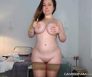 Cute Blonde Camgirl Caught On Webcam