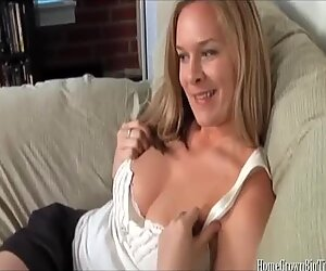 Blonde mom with big natural tits fucked