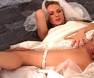 Incredibly perverted bride takes part in a threesome