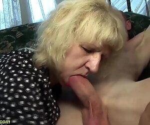 Poilu 80 ans Mince Mère Dur baisée