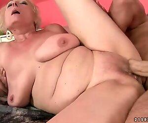 Lusty busty fat granny getting fucked