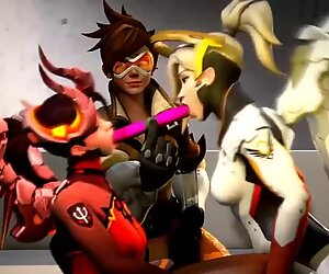 Overwatch Mercy Lesbian Futa english