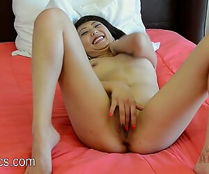 Miko Dai fingering her pussy