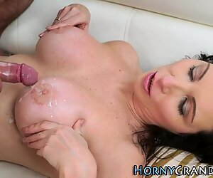 Busty cougar gets pounded