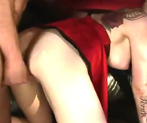 Doggy style is what perverted busty bitch Sophie Valentine prefers