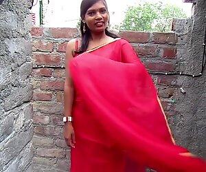 Le plus chaud bhabhi sari dans un style sexy, sari de couleur rouge