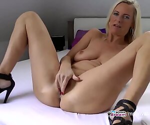 German cougar drizzling and wank Off Instruction