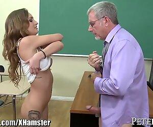 Schoolgirl Tries to Fuck her Old Teacher