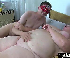 Nasty grandma gets an orgy