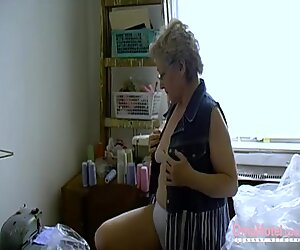 OmaHoteL Hairy Granny vagina packed With Adult plaything