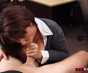 Hot milf fucked to bail out her husband amazing