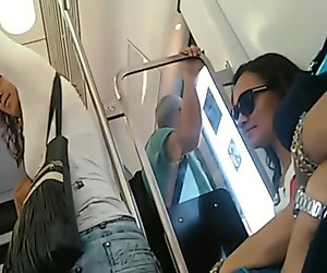 Brazilian big ass on the train