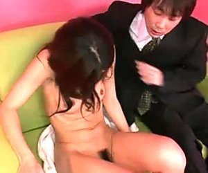 Perverted lawyers try to satisfy very juicy hairy pussy of Julia Nanase