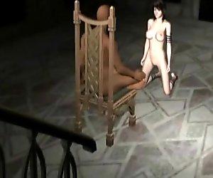 3D hentai slave ride fucking machine