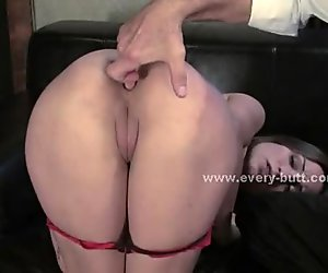 Slave in cage prepared for anal session of brutal ass fuck in ass penetration
