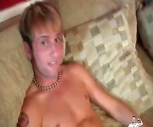 Young straight guy in underwear