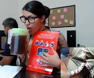 webcam in her office