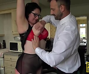 Real busty submissive