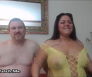 Lihava ja kiimainen pari ovat villi seksi päällä kamera