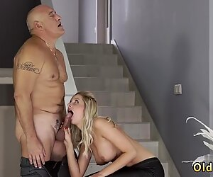 Old grandpa Finally at home, finally alone! - Summer Brooks
