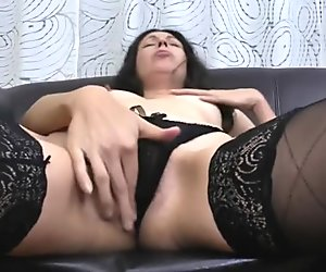 Spicy old milf dreaming of young dick and masturbating