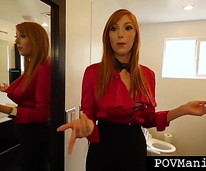 Redhead Realtor Lauren Phillips Blows A Hard Cock Like A Pro
