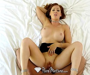 PUREMATURE Dani Jensen fucked by big dick masturbator