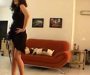 Horny erotic dance by a zesty fresh brunette from Czech Republic