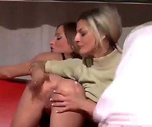 threesome fuck orgy in public