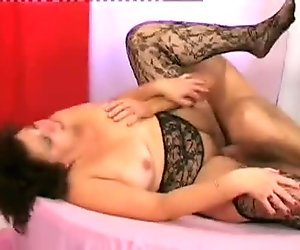 Mature fatty ride on young big cock
